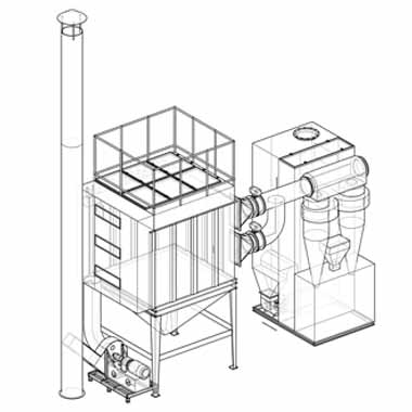 dust removal filter system